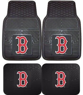 Boston Red Sox Heavy Duty Floor Mats 2 & 4 Pc Sets for Car Trucks & SUV's