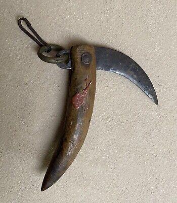 Hand Carved Wood Rustic Primitive Decor South American 1970/'s Vintage WOOD Carved DAGGER Wood Knife Detailed Edging Travel Souvenir