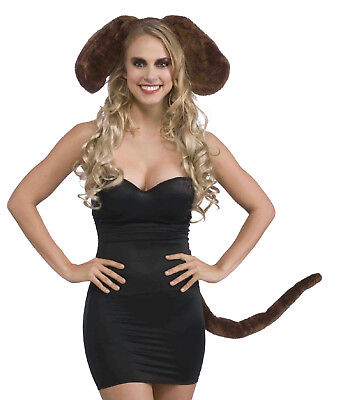 Brown Dog Ears and Tail Set Costume - Dog Ears And Tail