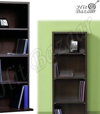 CD DVD STORAGE ORGANIZER Multimedia Tower Rack Bookcase Wood Media Shelf Cabinet