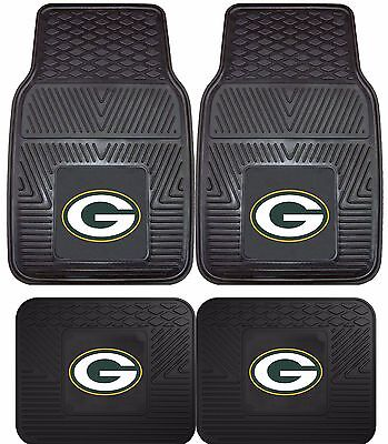 Green Bay Packers Floor Mat - Green Bay Packers Heavy Duty Floor Mats 2 & 4 pc Sets for Cars Trucks & SUV's