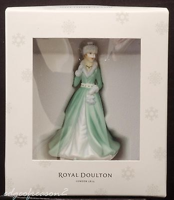 ROYAL DOULTON SILVER BELLS SONGS OF CHRISTMAS LADY FIGURINE DECORATION TREE