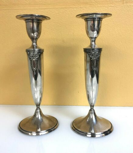 Lady Astor Wallace Silver Plated Matching Candle Sticks