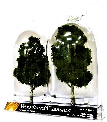2 Pkg Ready Made - Woodland Classics Ready-Made Trees TR3537 Waters Edge - 2/pkg