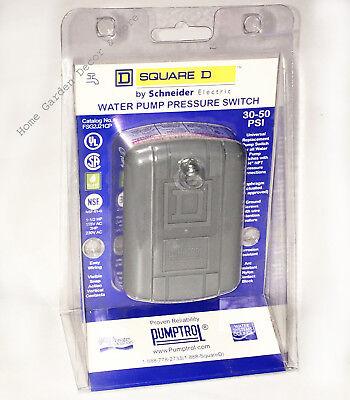 Square D Well Water Pump Pressure Switch Pumptrol 30-50 Psi 14 Npt Fsg2j21cp