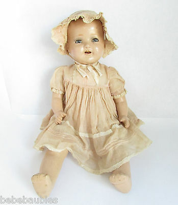 Vintage 1930s American Character Composition Doll Baby Chuckles Antique 18""