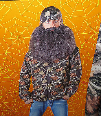 Back Woods Hunter costume - shirt bandana and beard - mens 38-40 - HALLOWEEN NIP - Mens Hunter Costume