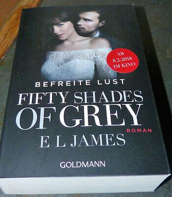 Fifty Shades of Grey - Befreite Lust, Taschenbuch und Girly Shirt Gr M ()