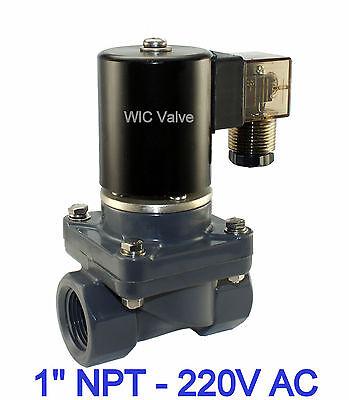 1 Inch Cpvc Anti Corrosion Acid Salt Water Electric Solenoid Valve Nc 220v Ac