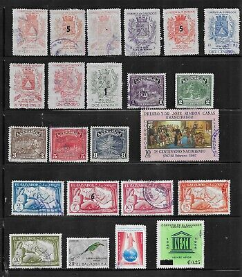 HICK GIRL- BEAUTIFUL USED EL SALVADOR STAMPS     VARIOUS ISSUES        T108