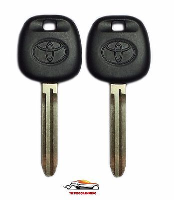 2 New Replacement Ignition Chip Car Fob Key with 4D-67 Transponder for Toyota