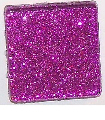 Mosaic Craft Tiles (Glitter Glass Mosaic Tiles - Purple - 3/4 inch - 20 Tiles - Craft & Art)