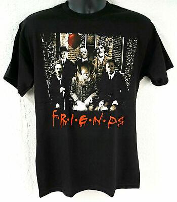 Halloween Movie Shirt (HORROR FRIENDS T-shirt Scary Movie Characters Halloween Adult Tee)