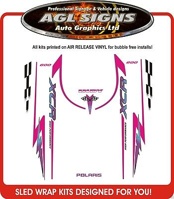 1996  POLARIS INDY XCR  600 HOOD DECALS , shroud  graphic reproductions