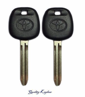 2 New Replacement Uncut Ignition Chip Car Key with 4D-67 Transponder for Toyota