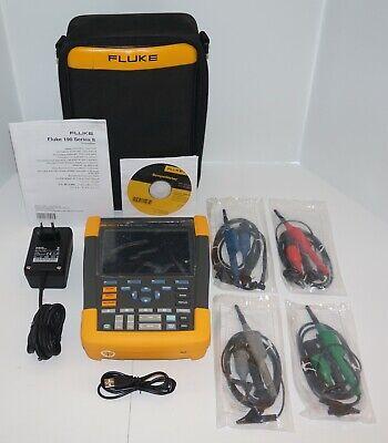 Fluke 190-204am Series Ii Scopemeter Oscilloscope 4ch 200mhz 2.4gss Used
