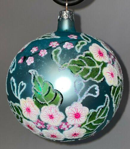 "Christopher Radko Mercury Glass  ""Wind Swept"" 1994 Ball Ornament Radko Mark"