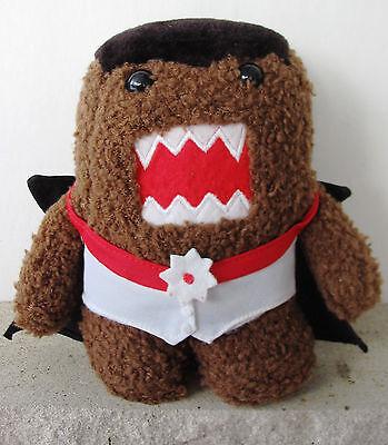 Domo Plush Vampire Costume Limited Edition Halloween Dracula Stuffed Kun Toy - Halloween Dress Up Games Vampire