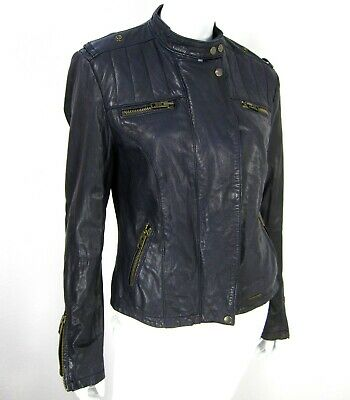 Leather SUPERDRY Motorcycle GS5IQ053F1 Jacket Japan Mock Sz M Black 225