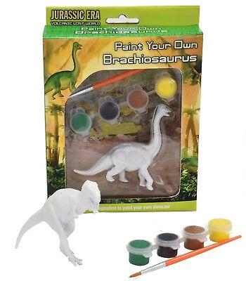 Paint Your Own Dinosaur Kit Painting Set Children Kids Creative Kit T - Rex New
