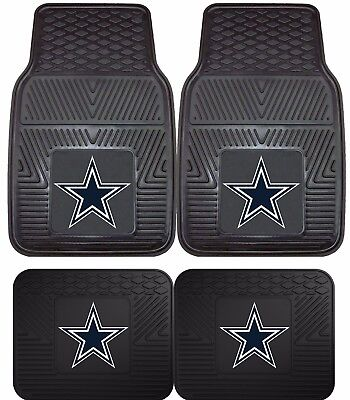 Dallas Cowboys Heavy Duty Floor Mats 2 & 4 Pc Sets for Car Trucks & SUV