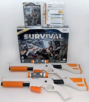 New 2 Gun Bundle Cabelas Survival Shadows Of Katmai Wii Wii U Game Set Top Shot
