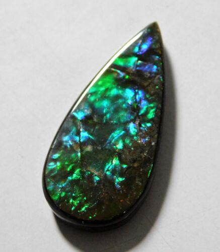17.80 Cts Natural Canadian Ammolite Cabochon Loose Gemstone 31.5X14X4.5 MM C25