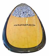 Stand up paddle board bamboo carbon rails mad FISH  alleydesigns Currumbin Waters Gold Coast South Preview