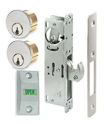 Adams Rite Type Store Front Hook Bolt Lock Wkeyed Mortise Cylinders Indicator