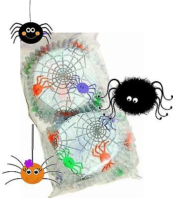 Halloween / Spider Frenzy Cup Cake Cases - Cute Colourful Spiders Pack of 50 - Cute Halloween Birthday Cakes