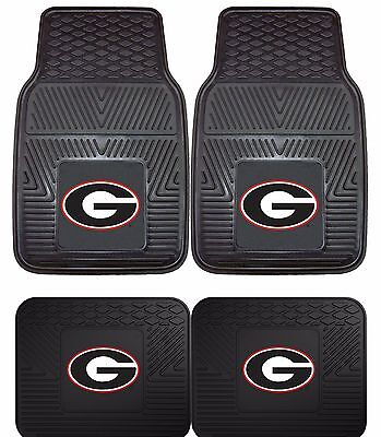 Georgia Bulldogs UGA Heavy Duty Floor Mats 2 & 4 pc Sets for Cars Trucks & SUV's