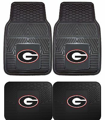 Georgia Set - Georgia Bulldogs UGA Heavy Duty Floor Mats 2 & 4 pc Sets for Cars Trucks & SUV's