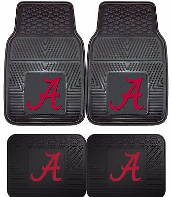 Alabama Crimson Tide Heavy Duty Floor Mats 2 & 4 pc Sets for Cars Trucks & SUV's](Alabama Crimson)
