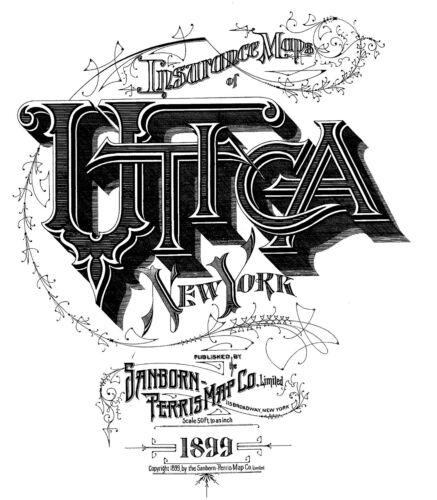 Utica,  New York~Sanborn Map©sheet ~85 maps on  CD from Sanborn Book~~1899