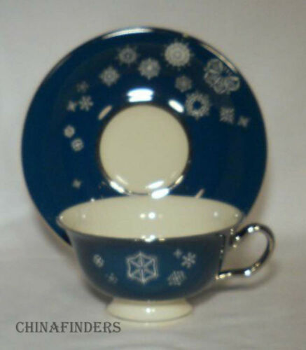 CASTLETON china SNOWFLAKE pattern Cup & Saucer