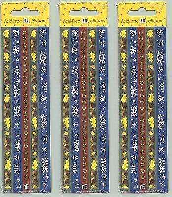 3 New packs Mary Engelbreit SEASON border Scrapbook stickers Fall - Fall Border