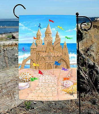 Toland Sandy Castle 12.5 x 18 Summer Beach Sand Shell Ocean