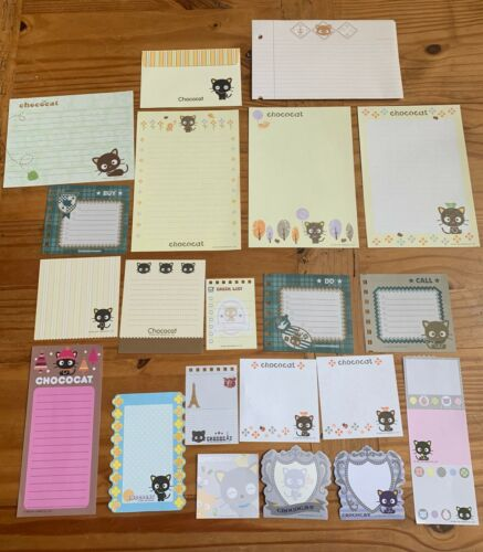 Sanrio CHOCOCAT Stationery / Stationary MEMO Writing Paper LOT 20 Sheets
