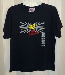 NEW WINNERS CIRCLE LADIES COLLECTION #48 JIMMIE JOHNSON NAVY BLUE T-SHIRT sz S/M