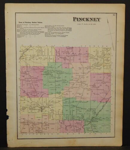 New York Lewis County Map Pinckney Township 1875  W19#44