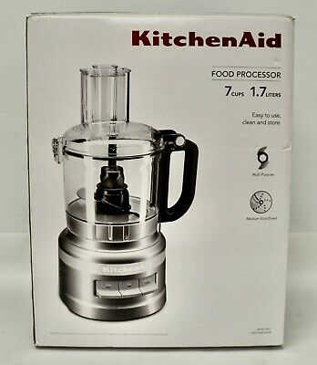KitchenAid KFP0718CU 7-Cup Food Processor Chop, Puree, Shred and Slice - Silver