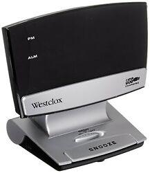Westclox 71014X 0.9 LED Plasma Screen Alarm Clock with USB Charging Port, Black