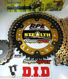 HONDA CBR600RR '07/16 DID 525 SUPERSPROX GOLD CHAIN AND SPROCKET KIT *OEM or Q.A