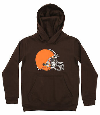 OuterStuff NFL Youth Cleveland Browns Primary Team Logo Fleece Hoodie, Brown