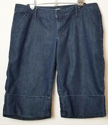 Cuffed Capri Hose (Gap stretch womens capris pants size 14 denim cotton blend cuffed medium wash)