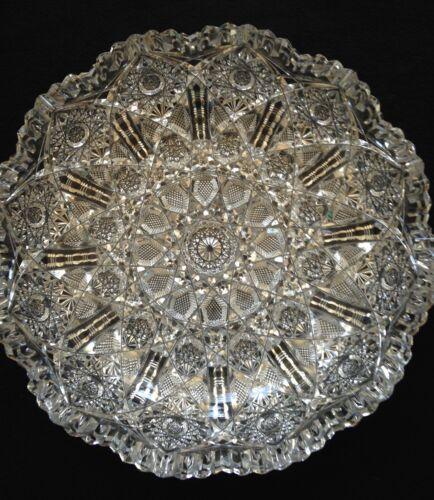 Antique American Brilliant cut glass cut crystal Berry Bowl