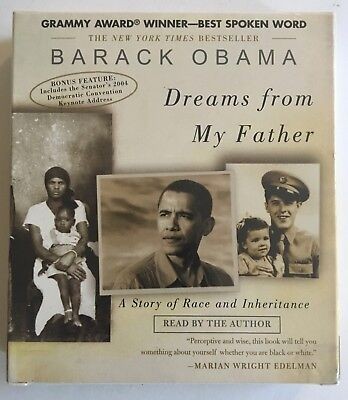Barack Obama Dreams from My Father 6-CD Audiobook Set - New, (Barack Obama Dreams From My Father Audiobook)