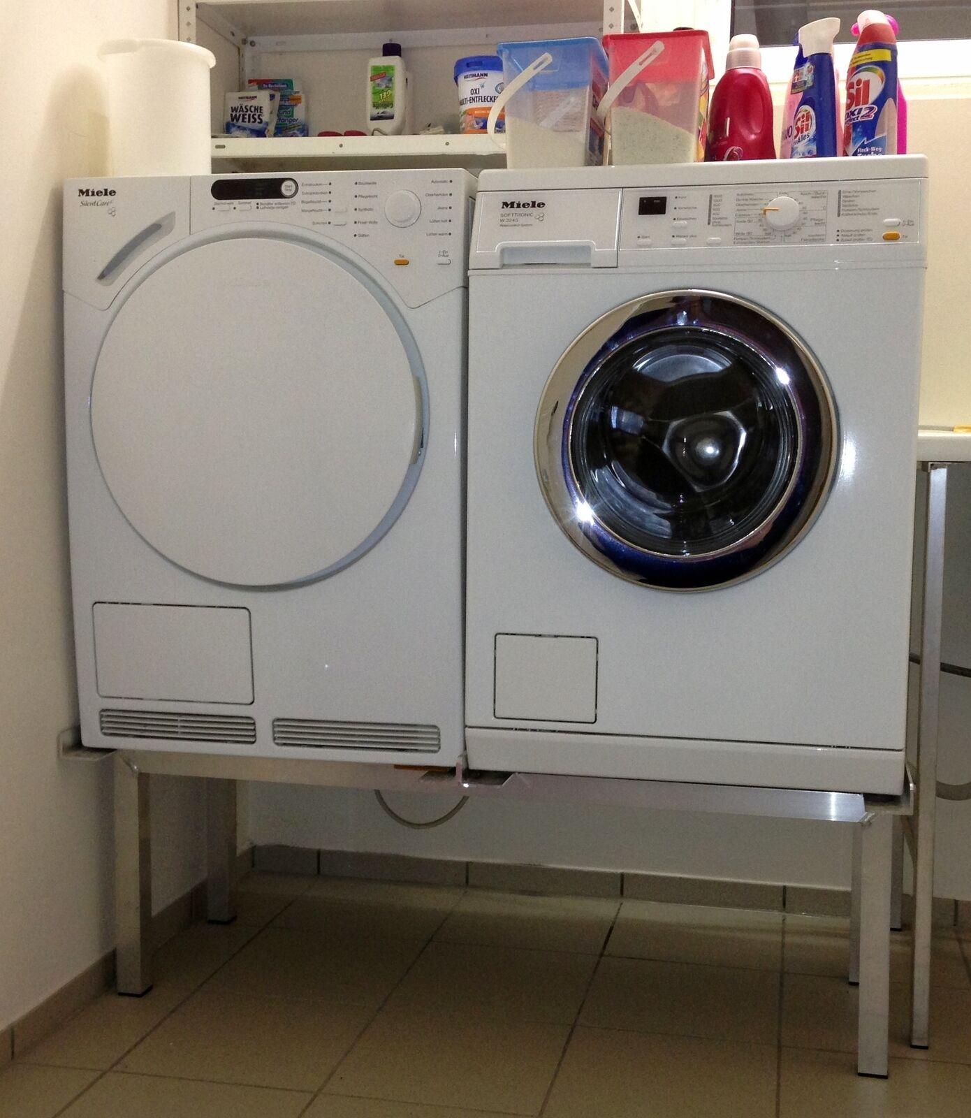 Premium Waschmaschinen Untergestell Doppel Alu, mit 2