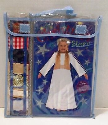 The Christmas Nativity Dress Up Story Book - 2 Dolls with Material - Dress them!