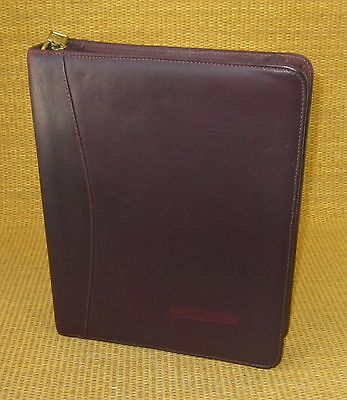 Classic 1.5 Rings Burgundy Leather Franklin Coveyquest Zip Plannerbinder